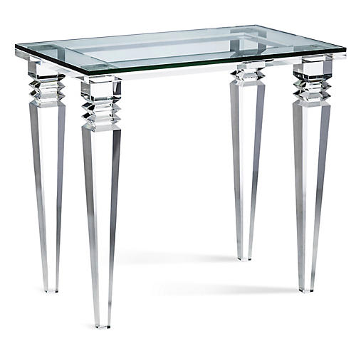 Savanah Side Table, Clear