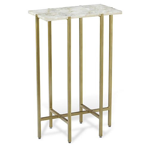 Leonie Side Table, White