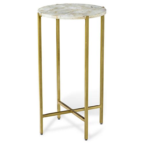 Leonie Small Side Table, White