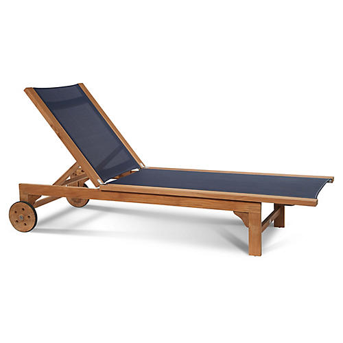 Montauk Chaise, Navy