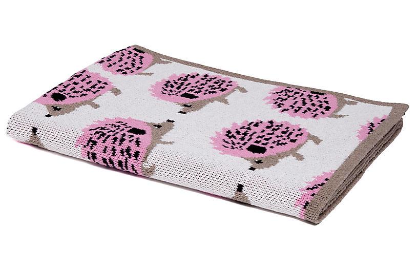 Hedgehog Baby Blanket, Pink