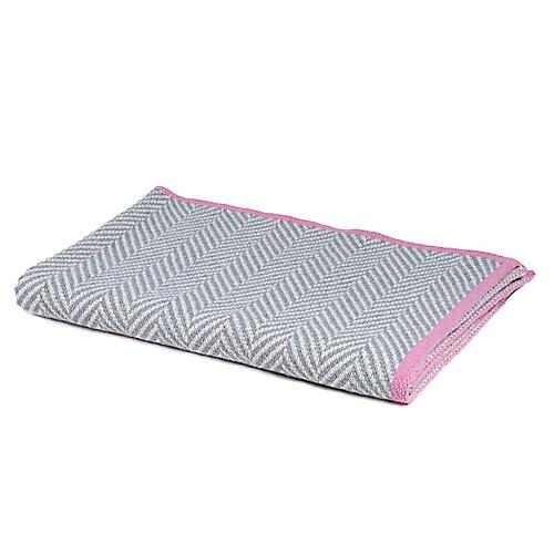 Herringbone Baby Blanket, Pink