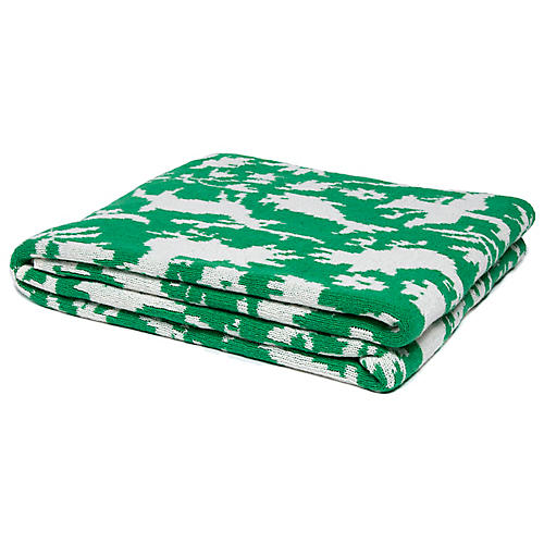 Otomi Outdoor Throw, Green