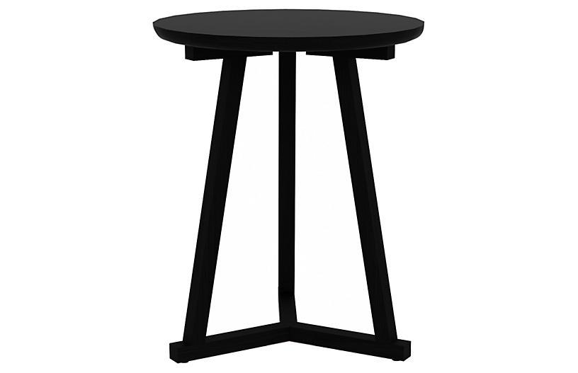 Tripod Tall Side Table, Black