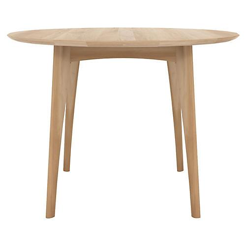 Osso Round Bistro Table, Oak