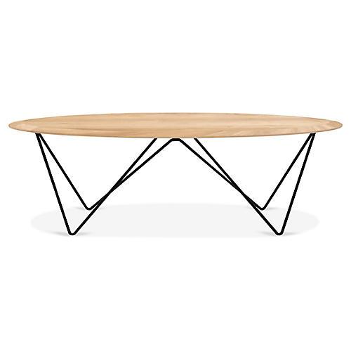 Orb Coffee Table, Black/Oak