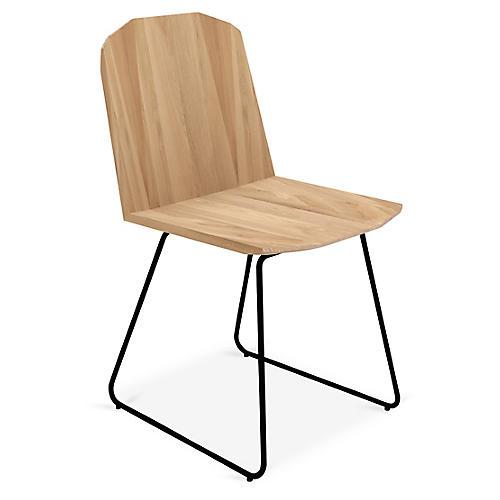 Facette Side Chair, Oak