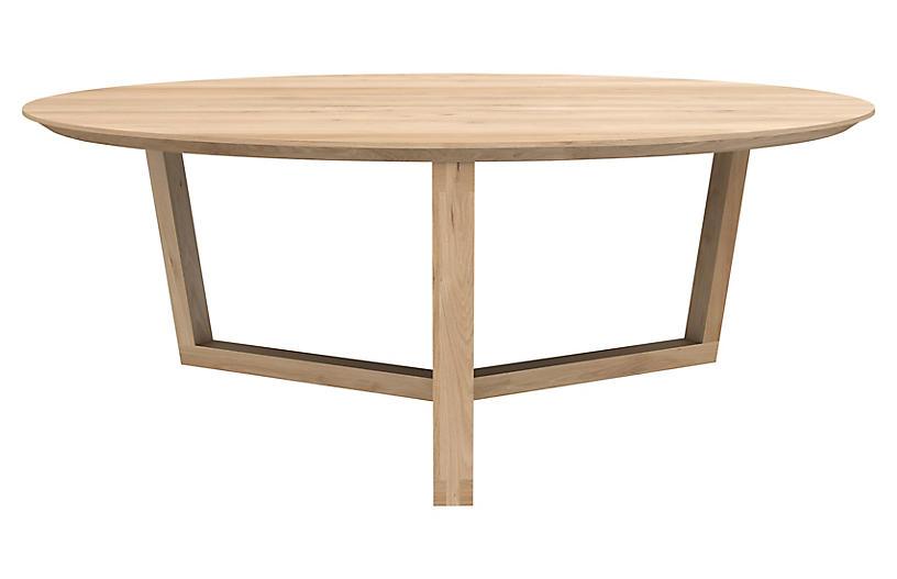 Tripod Coffee Table, Oak