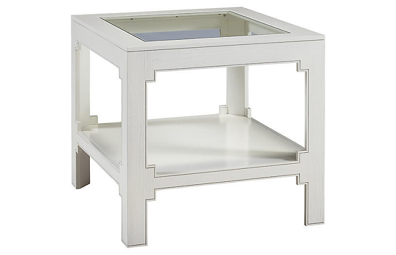 Seth End Table, White