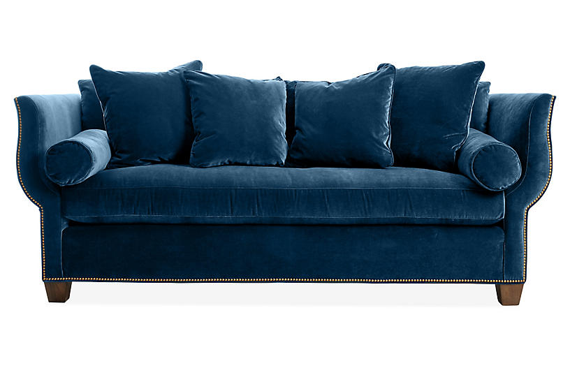 Missy Sofa, Denim Velvet