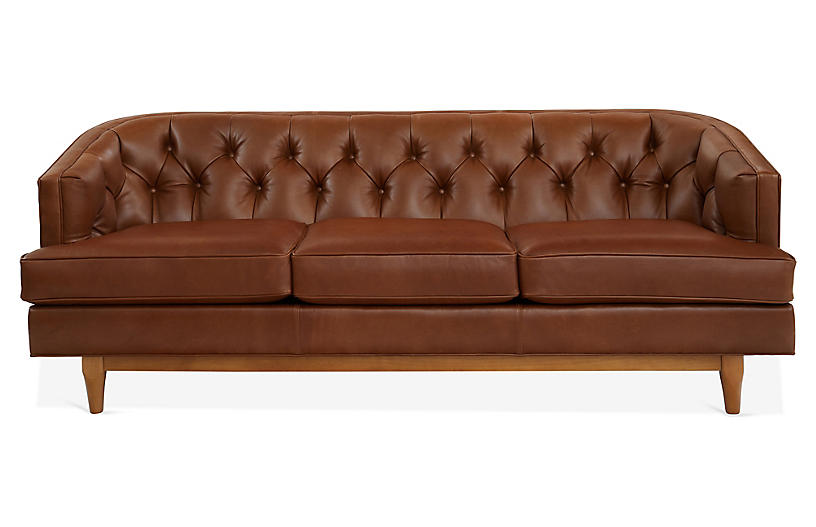 Groovy Emma Chesterfield Sofa Cinnamon Leather Alphanode Cool Chair Designs And Ideas Alphanodeonline