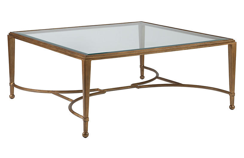 Sangiovese Square Coffee Table, Renaissance Gold