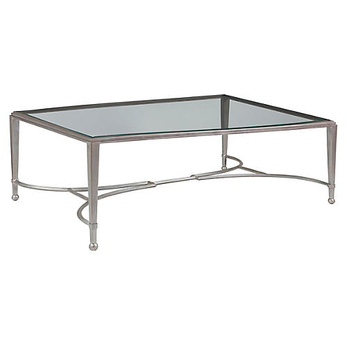 Sangiovese Coffee Table, Argento Silver