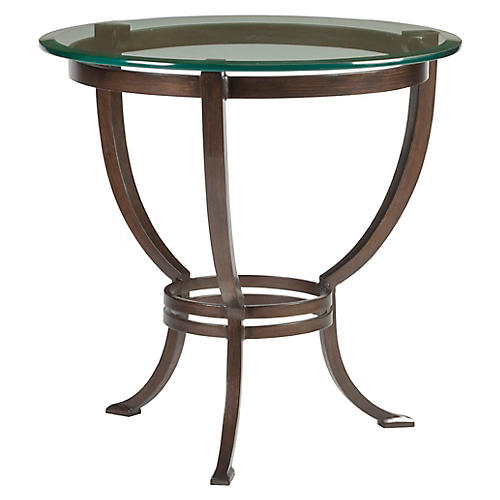 Andress Side Table, Antiqued Copper