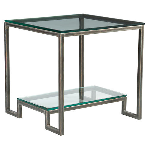 Bonaire Side Table, St. Laurent Iron