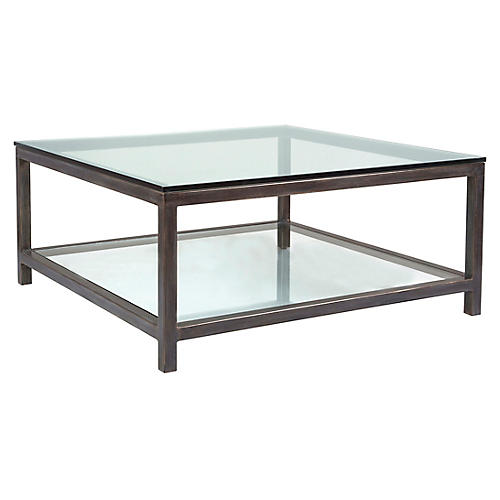 Per Se Square Coffee Table, St. Laurent Iron
