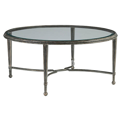 Sangiovese Round Coffee Table, St. Laurent Iron