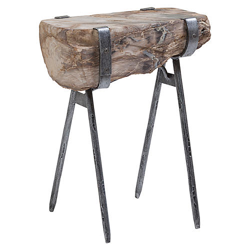 Wyatt Side Table, Antiqued Iron