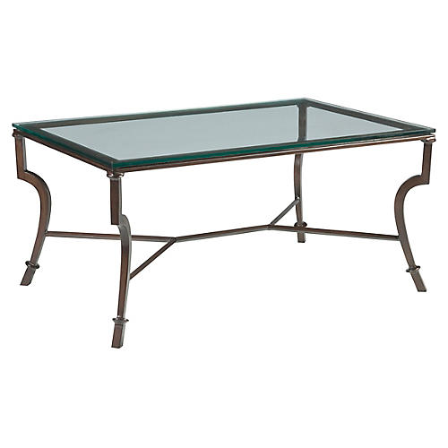 Syrah Coffee Table, Antiqued Copper