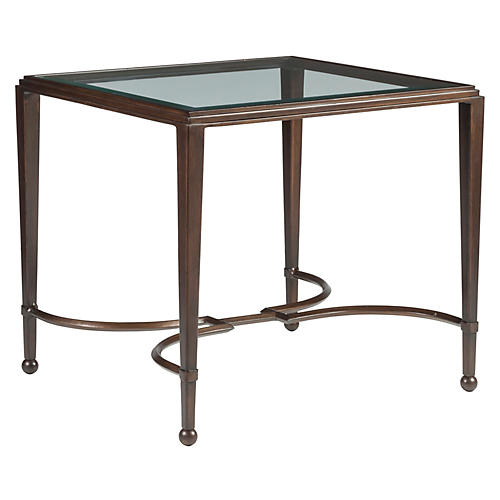 Sangiovese Side Table, Antiqued Copper