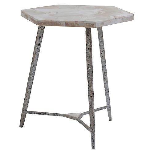 Chasen Side Table, White