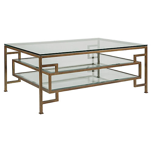 Suspension Coffee Table, Renaissance Gold