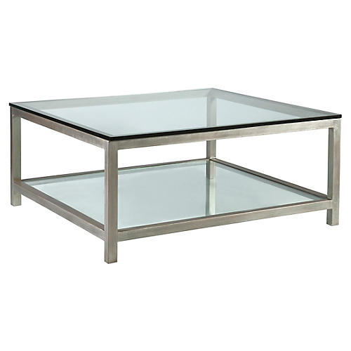 Per Se Square Coffee Table, Argento Silver