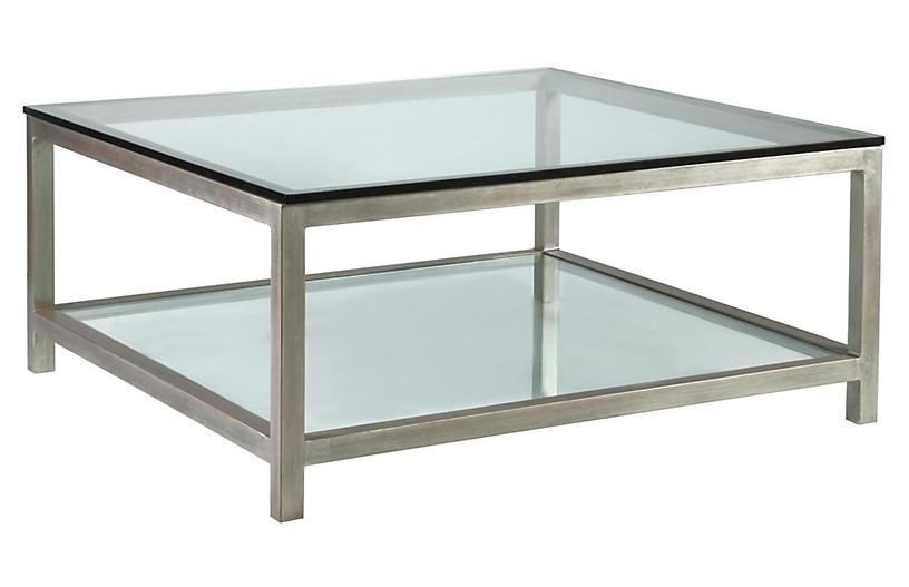 Per Se Square Coffee Table, Argento Silver