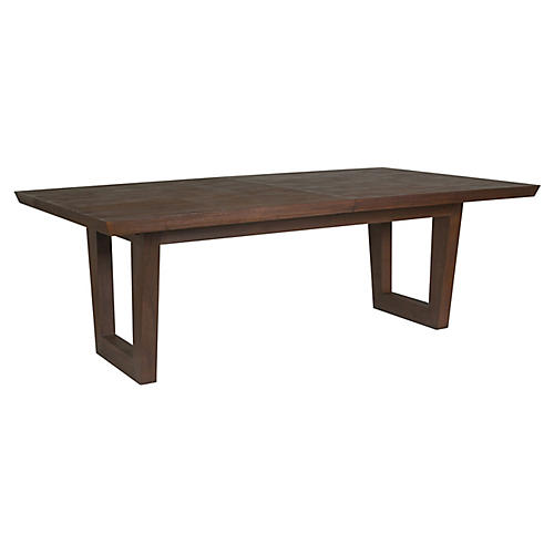 Brio Rectangular Dining Table, Marrone Brown