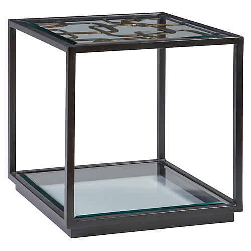 Moxie Side Table, Antiqued Black