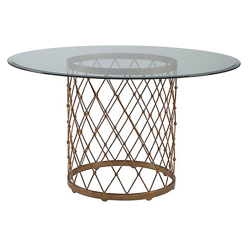 Royere Dining Table, Renaissance Gold