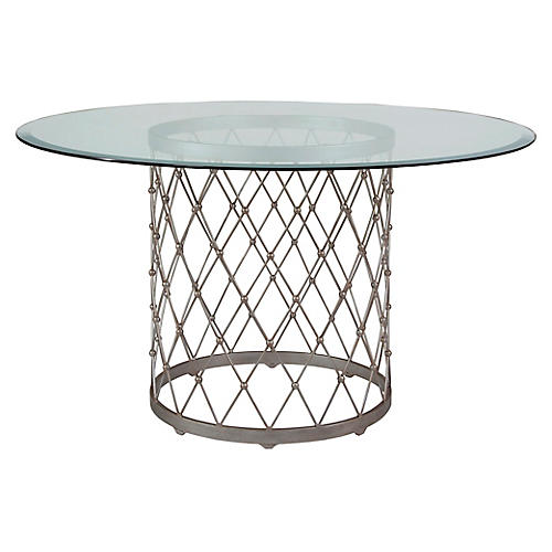 Royere Dining Table, Argento