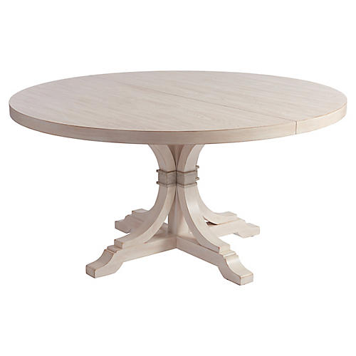 Magnolia Extension Dining Table, Whitewash