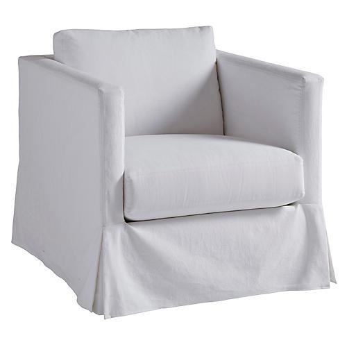Marina Slipcovered Chair, White