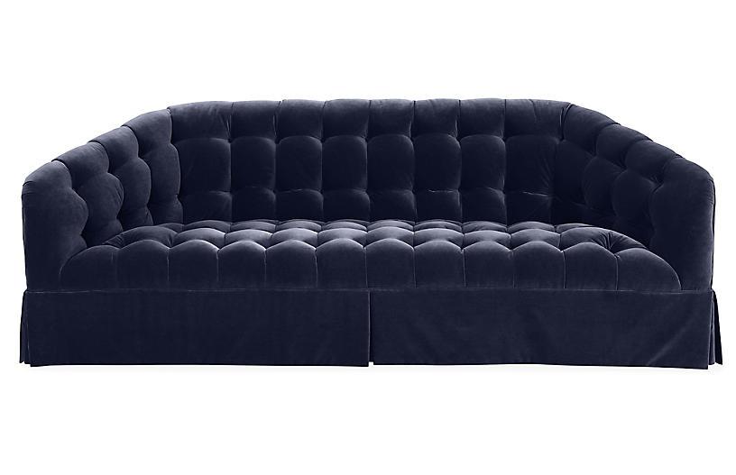 Tufts Sofa, Navy Velvet