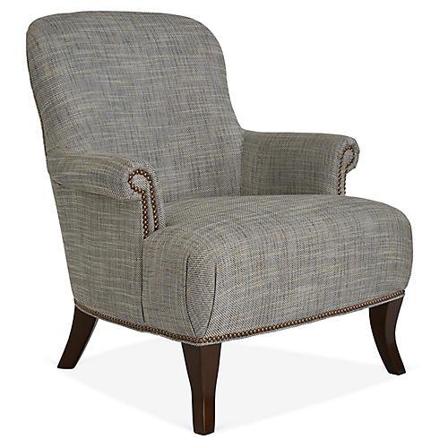Nellies Club Chair, Blue/Gray