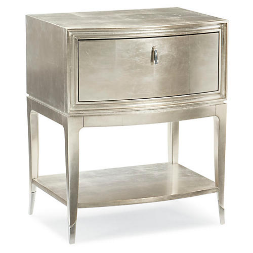 Aviana Nightstand, Silver Leaf