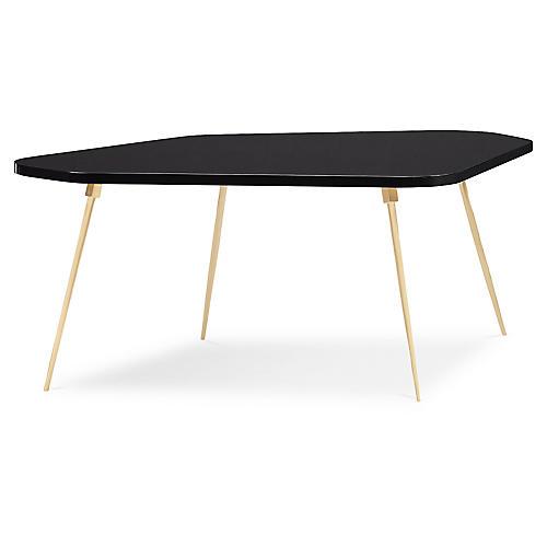 Geo Modern Coffee Table, Urban Black Lacquer