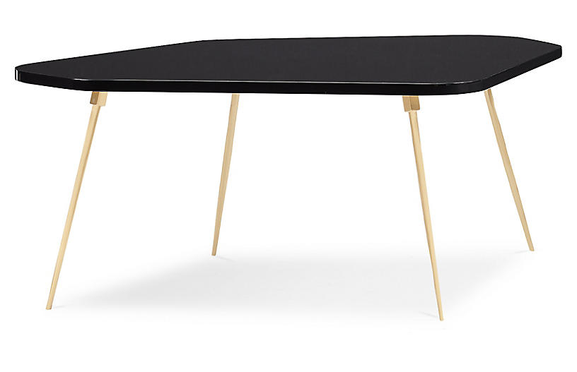 Geo Modern Coffee Table, Urban Black Lacquer