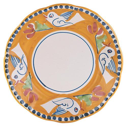 Uccello Salad Plate, Orange