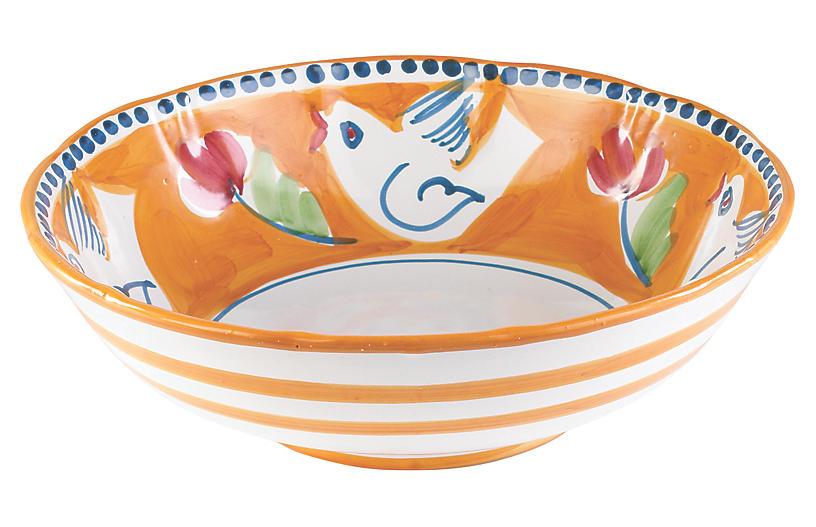 Uccello Serving Bowl, Orange