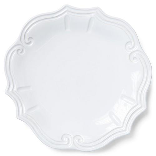 Incanto Stone Baroque Dinner Plate, White