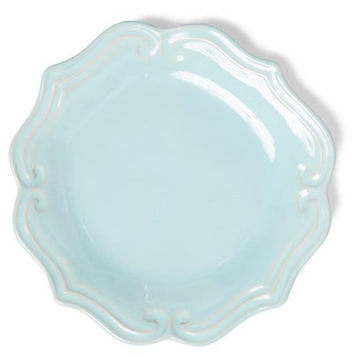 Incanto Stone Baroque Salad Plate, Aqua