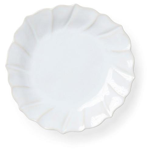 Incanto Stone Ruffled Salad Plate, Linen