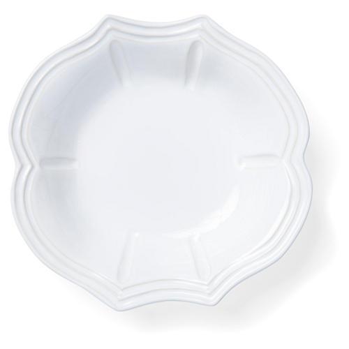 Incanto Stone Baroque Pasta Bowl, White
