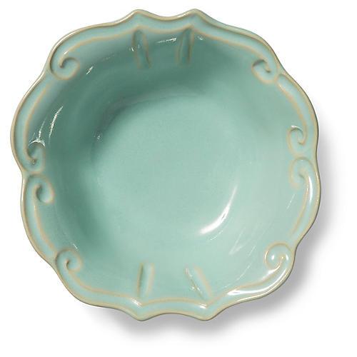 Incanto Stone Baroque Cereal Bowl, Aqua