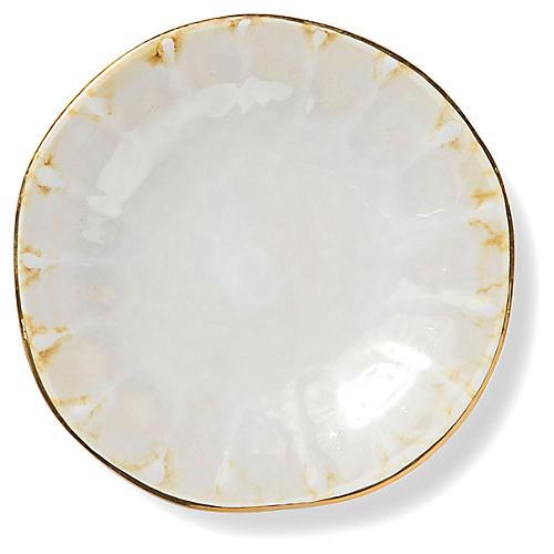 Perla Bread Plate, Pearl/Gold