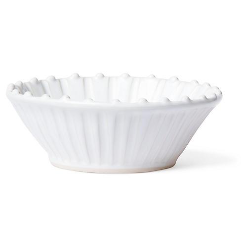 Incanto Stone Striped Cereal Bowl, White