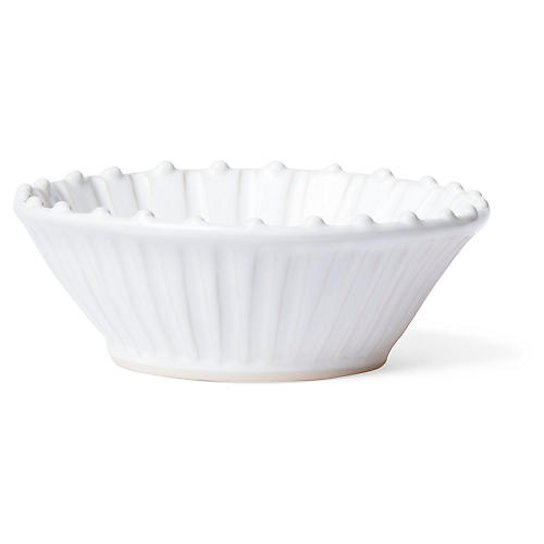 Incanto Stone Striped Cereal Bowl, White