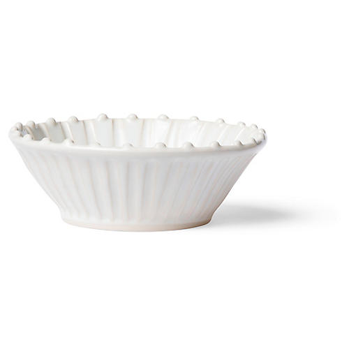 Incanto Stone Striped Cereal Bowl, White/Linen